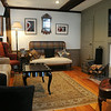 KEN YUSZKUS/Staff photo.  Rhod and Vicky Sharp own the house at 22 Franklin Street in Marblehead. Here is the living  room.          5/7/14