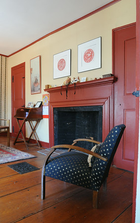 KEN YUSZKUS/Staff photo.  Rhod and Vicky Sharp own the house at 22 Franklin Street in Marblehead. One of the 2nd story guest rooms.         5/7/14
