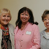 "KEN YUSZKUS/Staff photo.  From left, Nancy Ferguson of Pink House on Gerry, Dee Vigneron of Coldwell Banker, and Kathy Bruin of Bus Stop attend the breakfast at the Marblehead Chamber of Commerce where NOBMG publisher Karen Andreas was presenting ""Forward Thinking Communications Strategies — Top of Your Game"".  5/22/14."