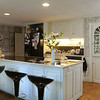 KEN YUSZKUS/Staff photo.  Rhod and Vicky Sharp own the house at 22 Franklin Street in Marblehead. This is the kitchen.        5/7/14