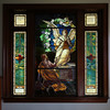 """KEN YUSZKUS/Staff photo.      One of the three Middleton's Flint Public Library's stained glass windows. This one is named """"Abou Ben Adhem"""".    05/18/16"""