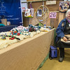 PARKER FISH/ Photo. Sharon Linnea Smith sits by her vendor table where she sells hand made pet toys. 4/30/16