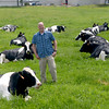 JIM VAIKNORAS/Staff photo  Richardson's owner Dave Daniels out with the girls at the Middleton Farm.