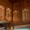 JIM VAIKNORAS/Staff photo Holes in one plaques at Middleton Golf Course