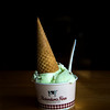 JIM VAIKNORAS/Staff photo  A cup with a cone of pistacio ice cream at Richardson's in Middleton.
