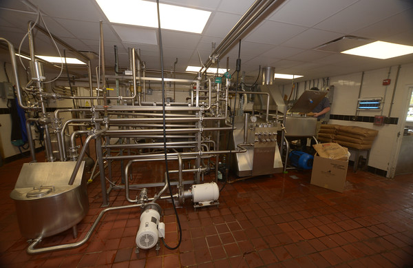 JIM VAIKNORAS/Staff photo The Pasturization system behind the scenes at Richardson's in Middleton.
