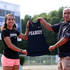 DAVID LE/Staff photo. Former Peabody High School cross country and track superstar Catarina Rocha, is entering her senior year at Providence College in Rhode Island. Her father, Joe Rocha, is the longtime coach of the Peabody High School boys track team and a former Boston College runner. 7/12/16.