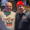 PARKER FISH/Photo. Jeff Bryson of Beverly and Mike Harrington of Peabody showed up at Champions Pub in Peabody to support the Pints for Pete fundraiser 5/5/16