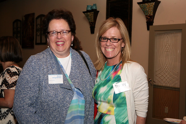 AMY SWEENEY/Staff photo.Susan Ring Brown, from Northeast Arc with Tracey Rauh.  Peabody Magazine launch Party held at Toscana's Ristorante May 12, 2016