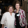 AMY SWEENEY/Staff photo. Phyllis Freeman, from the Peabody Area Chamber of Commerce and Nancy Black owner  of Organizational Plus. Peabody Magazine launch Party held at Toscana's Ristorante May 12, 2016