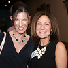 AMY SWEENEY/Staff photo. Sonya Vartabedian, editor o Andovers Magazine and Lillian Shapiro from North of Boston Media Group. Peabody Magazine launch Party held at Toscana's Ristorante May 12, 2016