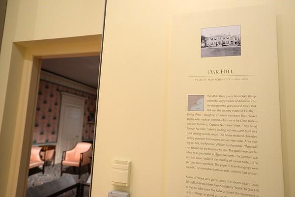 "PAUL BILODEAU/Staff photo.  The Peabody ""Oak Hill"" exhibit  at the Museum of Fine Arts, Boston."
