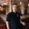 KEN YUSZKUS/Staff photo.    Owner Aleko Pashaj at the Gallo Nero Restaurant in Peabody.     04/08/16