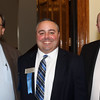 DAVID LE/Staff photo. Sarkis Sarkisian, Brian Vinagro, and Mike Murray, all on the Board of the Peabody Area Chamber of Commerce, at the annual Mary Upton Ferris Award ceremony held in the Wiggin Auditorium at Peabody City Hall. 4/12/16.