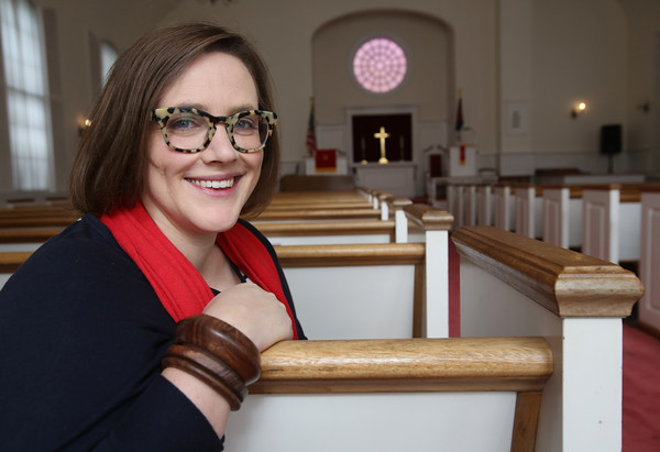 Alison Gerber is the new and first female pastor of Second Congregational Church in Peabody