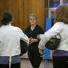 Photo/Reba Saldanha  Molly Sullivan Sliney leads the Tanner City Fencers Club at Higgins Middle School Wednesday April 6, 2016