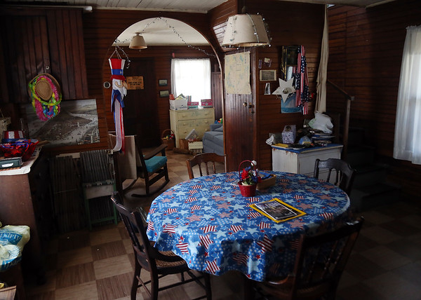 DAVID LE/Staff photo. The downstairs dining room and living room area of the last summer cottage. 8/29/16.