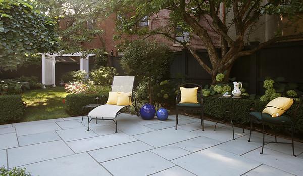 KEN YUSZKUS/Staff photo   The backyard of Jeff Beale's house at 40 Chestnut t., Salem.    08/19/16