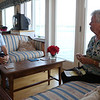 DAVID LE/Staff photo. Longtime Salem Willows residents Pat Morency, right, and Rossie Dennis, left, talk about how the area has changed in their time living there. 8/29/16.