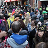 DAVID LE/Staff photo. The Essex Street Pedestrian Mall was packed with Halloween-goers early on Saturday evening. 10/31/15.