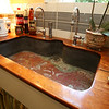 KEN YUSZKUS/Staff photo   A copper sink in the butler's pantry at Jeff Beale's house at 40 Chestnut t., Salem.    08/19/16