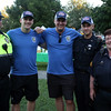 DAVID LE/Staff photo. From left, Sgt. Philias Verettem Officer Jim Bedard, Officer Michael LaRiviere, Officer Kevin McDonnell, and Sgt Kathy Makros, of the Salem Police Department, at the first annual National Night Out hosted by the Salem Police Department at the Salem Commons on Tuesday evening. 8/2/16.