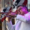 "First trumpet of the Hillyer Festival Orchestra Jeff Hogffler performs ""TrumpetLullabye"" during the 4th of July concert.<br /> <br /> Photo by joebrownphotos.com"