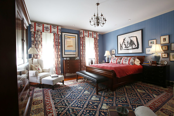 KEN YUSZKUS/Staff photo   The master bedroom at Jeff Beale's house at 40 Chestnut Street, Salem.    08/19/16
