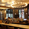 HADLEY GREEN/Staff photo<br /> The interior of Ledger, a new restaurant in downtown Salem inhabiting the old Salem Savings Bank building. 8/02/17