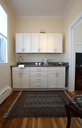 KEN YUSZKUS/Staff photo.    The kitchen area of one of the two honeymoon suites at the renovated Salem Inn's Peabody House.     04/05/16