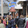 KEN YUSZKUS/Staff photo.    The crowded sidewalk at Salem Willows.      04/18/16