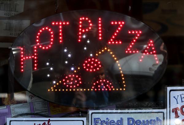 KEN YUSZKUS/Staff photo.    Food sign at Salem Willows.      04/18/16