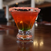 KEN YUSZKUS/Staff photo.   A Pop Rock Martini created by Rockafella's bartender Sarah Paone.       04/28/16