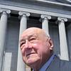 KEN YUSZKUS/Staff photo.     Thaddeus Buckzo stands in front of the Salem Probate Court.    04/27/16