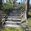 KEN YUSZKUS/Staff photo.    The stairway leading up the hill from the home of Henry and Diane O'Donnell's  home on Lafayette Street in Salem.      04/27/16
