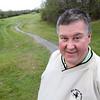 KEN YUSZKUS/Staff photo.    Old Salem Greens Golf Course pro shop manager Scott MacDonald on the first fairway.     05/09/16