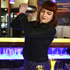 KEN YUSZKUS/Staff photo.      Opus bartender Ramona Shah shakes up a Wingstroke cocktail.      05/05/16