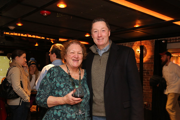 Photo/Reba Saldanha Award chairperson Shelby Hypes and State Rep. Paul Tucker at the  Salem Award recipient announcement at Opus Underground in Salem Sunday January 24, 2016.