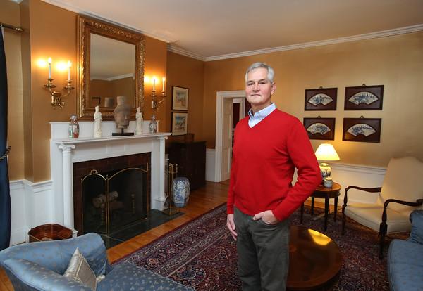 KEN YUSZKUS/Staff photo.      Rich Jagolta in his livingroom at his home on Chestnut Street in Salem    2/8/16