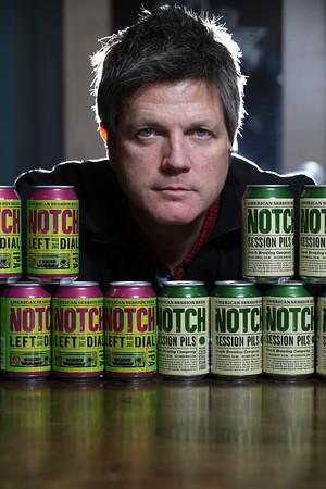 KEN YUSZKUS/Staff photo.   Notch Brewing owner Chris Lohring.     01/27/16.