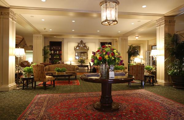 KEN YUSZKUS/Staff photo.   The lobby of the Hawthorne Hotel.    01/25/16.