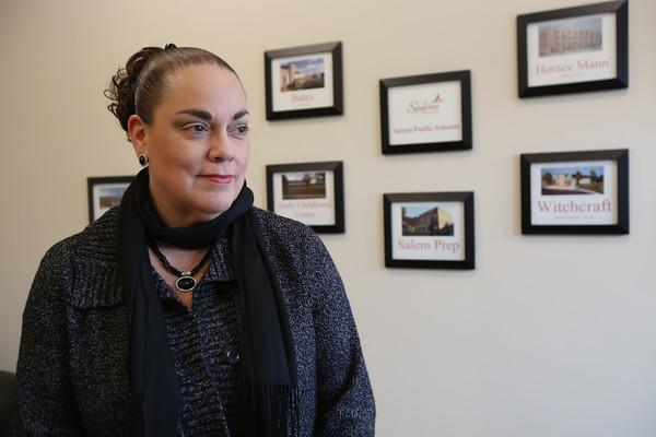 KEN YUSZKUS/Staff photo.    Salem superintendent Margarita Ruiz is in her office.    2/10/16