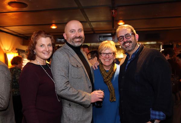 Photo/Reba Saldanha  Salem Award board members (from left) Rachel Lutts, John Casey, Jean Karam, and Paul Pinto at the recipient announcement at Opus Underground in Salem Sunday January 24, 2016.