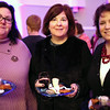 "HADLEY GREEN/ Staff photo<br /> <br /> From left to right, Marianne Smith, of Salem, Susan Mullenmeister, of Salem, and Cathy Needham, of Waltham, attend the ""Salem So Sweet"" chocolate and wine tasting on Friday, February 10th, 2017 at Rockafellas in Salem."