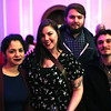 "HADLEY GREEN/ Staff photo<br /> <br /> From left to right, Tenisha Germosen, Alyse Rheaume, Matt Biddle and Dustin Sciacca attend the ""Salem So Sweet"" chocolate and wine tasting on Friday, February 10th, 2017 at Rockafellas in Salem."