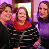 "HADLEY GREEN/ Staff photo<br /> <br /> From left to right, Natalie Blue, of Wenham, Molly Fowler, of Marblehead, and Stephanie Magdis, of Beverly attend the ""Salem So Sweet"" chocolate and wine tasting on Friday, February 10th, 2017 at Rockafellas in Salem."