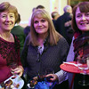 "HADLEY GREEN/ Staff photo<br /> <br /> From left to right, Kathy Kallimon, of Lynnfield, Jody Palmerino, of Lynn, and Ginny LeBlanc, of Swampscott, attend the ""Salem So Sweet"" chocolate and wine tasting on Friday, February 10th, 2017 at Rockafellas in Salem."