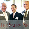 HADLEY GREEN/ Staff photo<br /> From left to right, Bill Leaver of Salem, Matt Picarsic of Weston, and Bill Howard of Beverly attend at the Salem Partnership Annual Dinner and Meeting held at the Hawthorne Hotel in Salem on Tuesday, March 28, 2017.