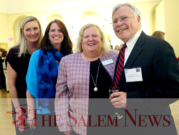 HADLEY GREEN/ Staff photo<br /> From left, Bernadette Butterfield, Leanne Schild, Beth Debski, and George Atkins attend the Salem Chamber of Commerce's Celebrate Salem Awards Dinner. The dinner took place at the Peabody Essex Museum on April 26th, 2017.