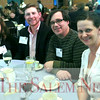 HADLEY GREEN/ Staff photo<br /> From left, Tina Jordan, Faxon Michaud, Jay Menice, and Stacey Tilney eat dinner at the Salem Chamber of Commerce's Celebrate Salem Awards Dinner. The dinner took place at the Peabody Essex Museum on April 26th, 2017.
